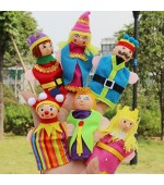 6 PCS Wooden Head Finger Puppets